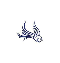 eagle logo design abstract eagle logo design vector image