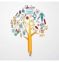 Education doodle concept vector