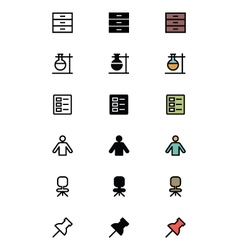 Education Outline Filled and Colored Icons 13 vector