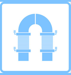 Electric magnet icon vector