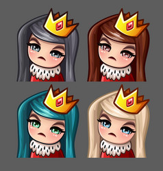 emotion icons queen female vector image