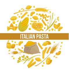 exquisite delicious italian pasta advertisement vector image