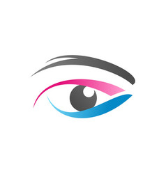eye logo symbol icon design vector image
