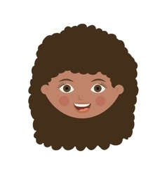 Front face woman with wavy hair vector