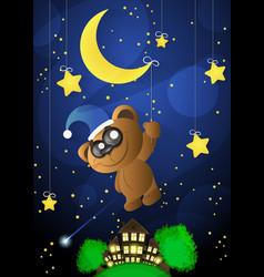 good night moon vector image
