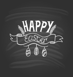 Happy Easter lettering on dark background-2 vector image vector image