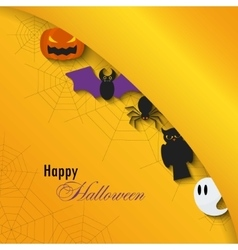 Happy Halloween background Flat vector image