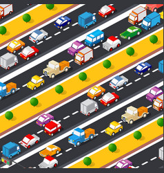 Highway lifestyle city traffic vector
