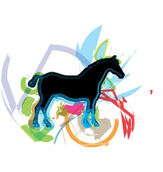 horse running vector image