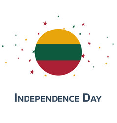 independence day of lithuania patriotic banner vector image
