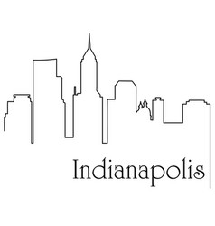 indianapolis city one line drawing vector image