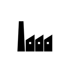 industry factory plant icon signs and symbols can vector image