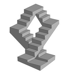 Infinite stairs vector