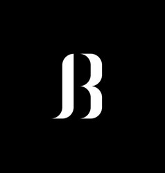 Initial letter j b or r logo template with classic vector
