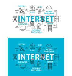 Internet web elements and devices vector