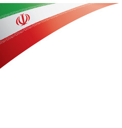 Iran flag on a white vector