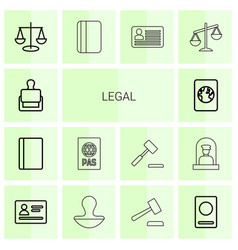 legal icons vector image