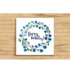 lettering happy birthday vector image vector image