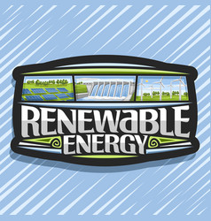 Logo for renewable energy vector