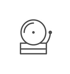 Loud bell line outline icon vector