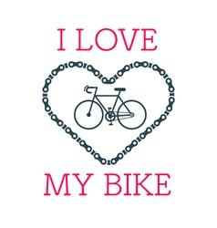 Love bike card 2 vector