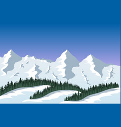 Mountain range landscape vector