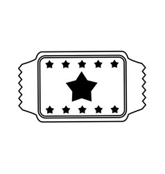 Movie tickets icon image with stars vector