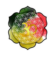on theme yoga with mandala and vector image