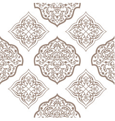 Oriental seamless pattern of mandalas vector