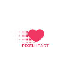 Pixel heart logo vector