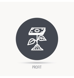 Profit icon Money savings sign vector