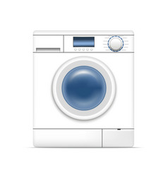 realistic detailed 3d white washing machine vector image