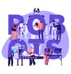 robotics hardware and software engineering vector image