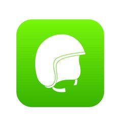 Safety helmet icon digital green vector