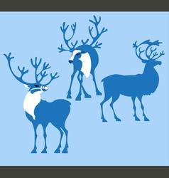 Silhoette deer vector