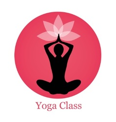 Silhouette yoga and lotus vector image