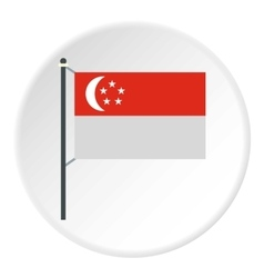 Singapore flag icon flat style vector