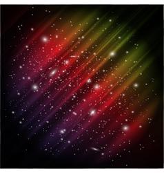 Space aurora background vector
