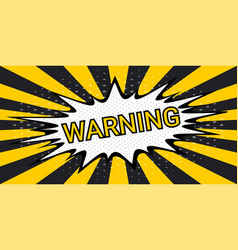 Striped rays safety warning dangerous background vector