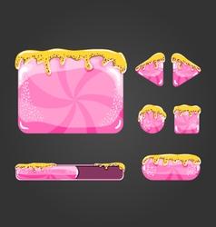 Sweet cartoon user interface games-6 vector image
