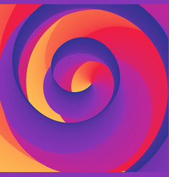 swirly spiral colorful rainbow background vector image