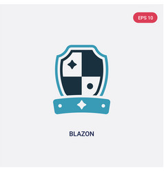 Two color blazon icon from other concept isolated vector