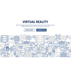 Virtual reality banner design vector