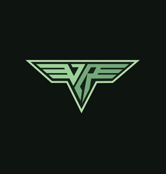 Vr logo symbols vector