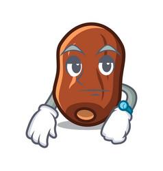 Waiting dates fruit mascot cartoon vector