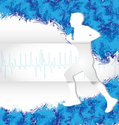 watercolor running vector image