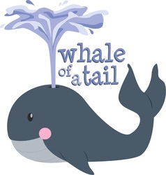 Whale Of Tale vector