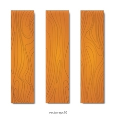 Wood boards set vector