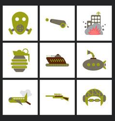 World war line icons minimal pictogram design vector