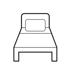 bed hotel isolated icon vector image vector image